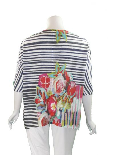 Atelier 5 One Size Striped Printed Tunic LNTU13-16SS12