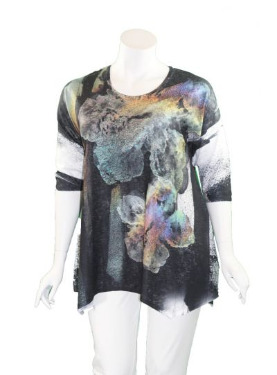 Et' Lois Plus Size Multi Printed Pullover Tunic C3281-2020 A13