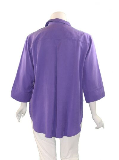 Way Plus Size Purple Button Front Shirt 2400-110