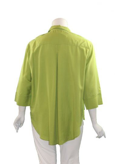 Way Plus Size Lime Button Front Shirt 2400-40
