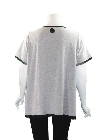 Redwood Court Plus Size Grey Dots Tunic WT625BS