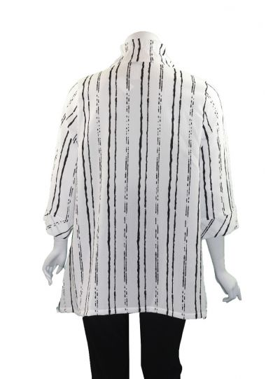 Moonlight White/Black Wire Collar Pullover Tunic 3033