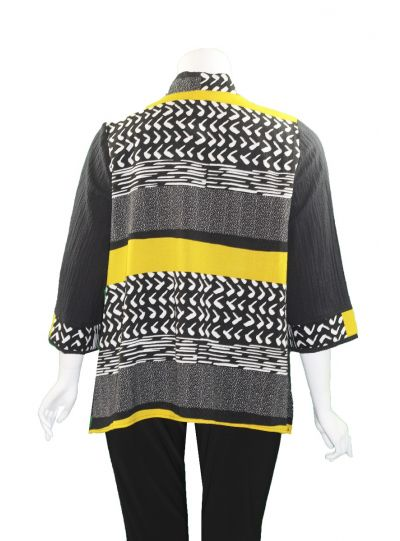 Moonlight Black/Yellow One Button Closure Jacket 2835