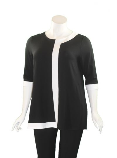 Doris Streich Plus Size Black/White Stripe Tunic 441-270-91