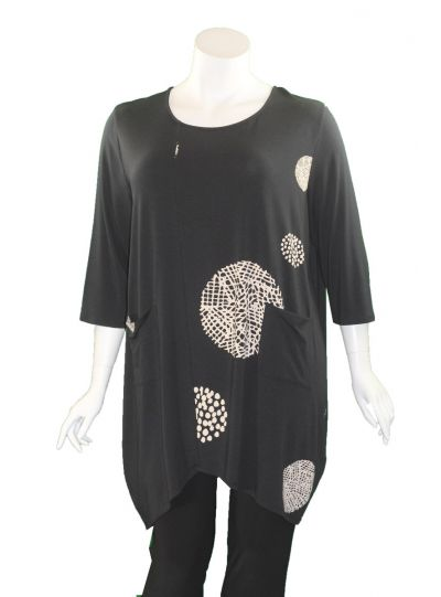 Chalet Plus Size Black Magg Tunic XB93433