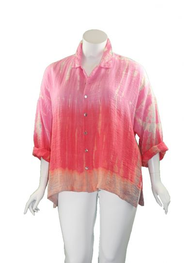 Gerties Plus Size Pink Hand Dye Big Shirt 11202066