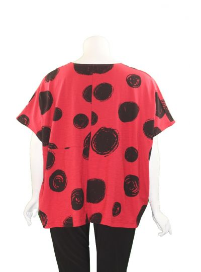 Moyuru Red Dot Short Pullover Top 201010