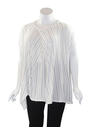 Moyuru White/Black Striped Pocket Tunic 201642