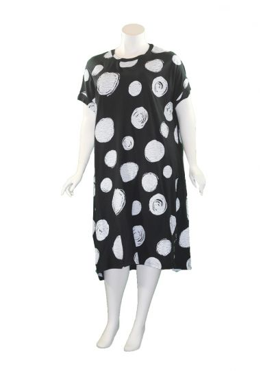 Moyuru Black/White Dot Pullover Dress 201009