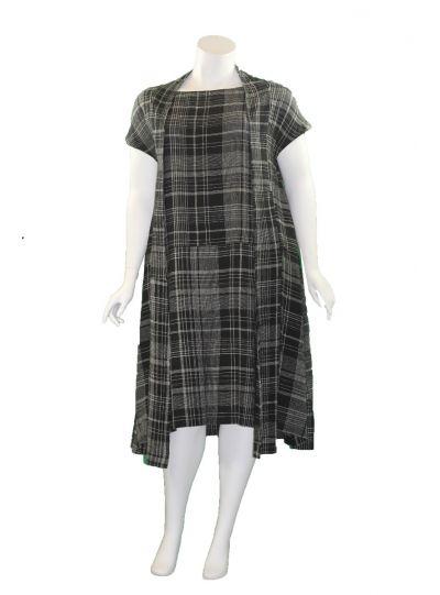 Moyuru Black Plaid Pullover 2 Piece Dress 201661