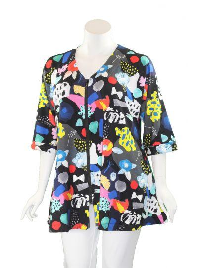 Aino Plus Size Fanny Zipper Jacket Giara