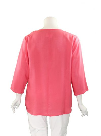 Fridaze Plus Size Passion Flow Side Button Pullover AA205-CL2494