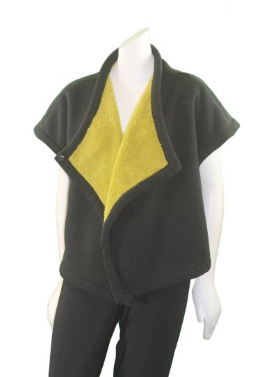 Alembika Black/Sunflower Short Fleece Jacket J808S