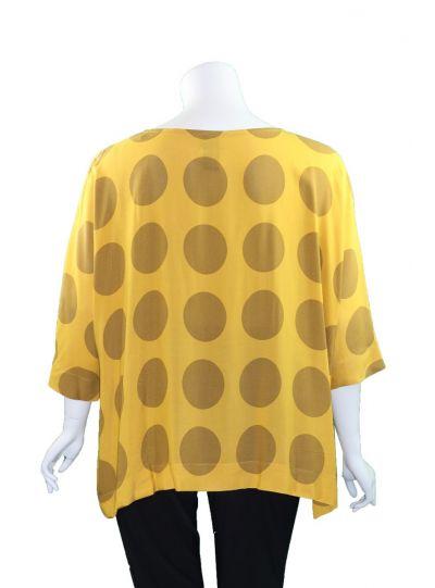Kedem Sasson Mustard Dot Pullover Top KS4330