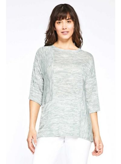 Sympli Plus Size Black/Grey Easy as Pie Sweater L7223