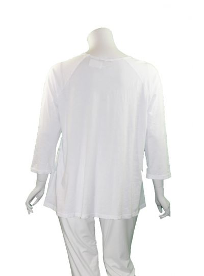 07d9a036ac0 ... Jess & Jane Plus Size White 2 Pocket Basic Tee M12X