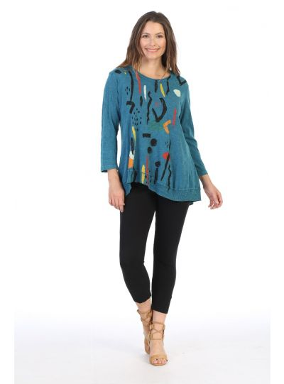 Jess & Jane Plus Size CYP Surprise Cotton Tunic M18-1411X