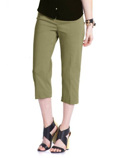 Multiples Plus Size Vintage Sage Pull-On Capri M2603PW