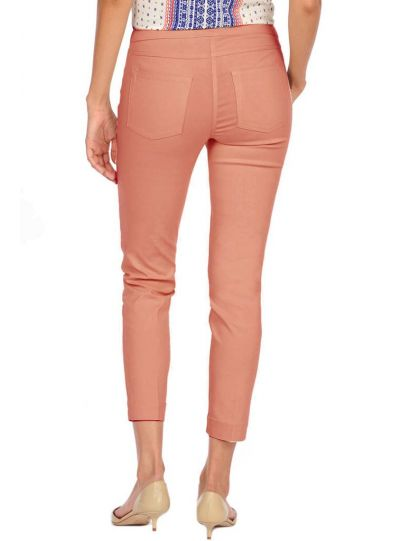 Multiples Plus Size Cream Ankle Pant M2623PW