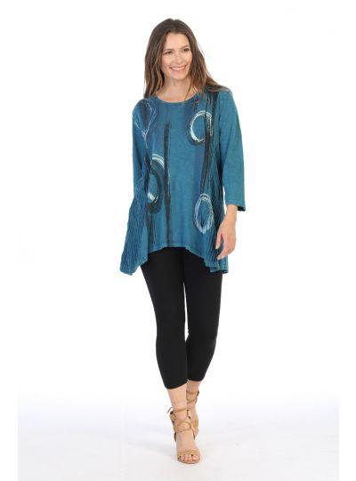 Jess & Jane Plus Size CYP Canali Cotton Knit Top M55-1241X
