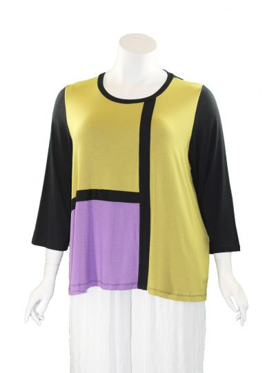 Comfy Plus Size Color Block Kate Top M884