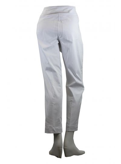 Multiples Plus Size White Ankle Wide Band Pull On Pant M2623PA4W