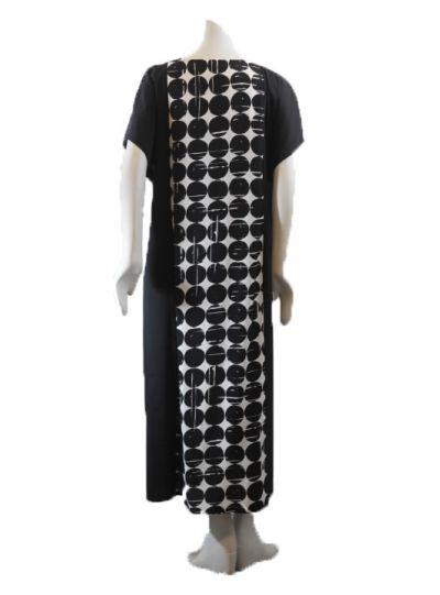 Q'Neel Black/White Dot Pullover Dress 88235