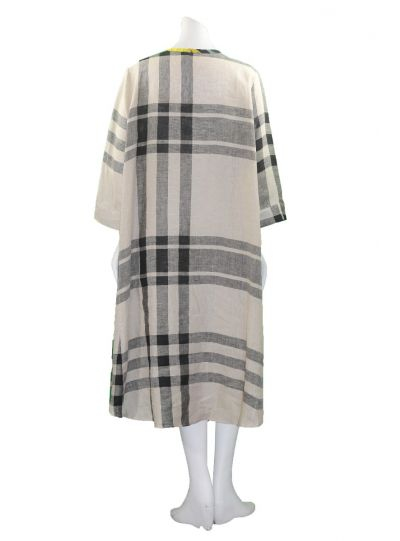 Alembika Khaki Plaid Pullover Dress RD207K