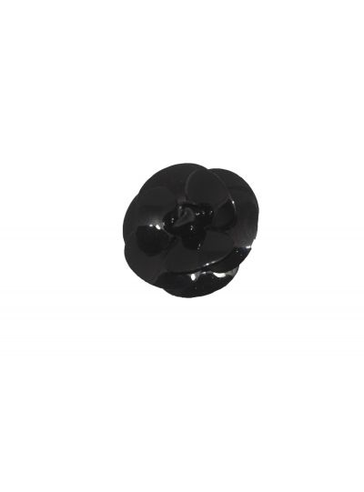 Francoise Montague Small Black Flower Pin Rivka PM