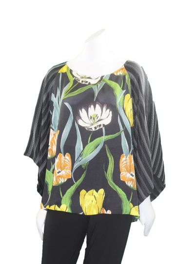 Alembika Tulip/Stripe Pullover Blouse RT400T
