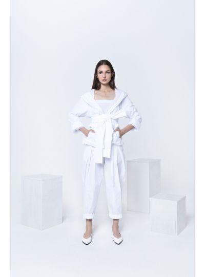 Igor White Solid/Fish Net Tie Jacket S20-03