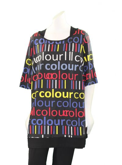 Chalou Plus Size Multi Colour Tunic S8322