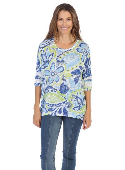 Jess & Jane Simply Crushed Novelty Top SB2-992X