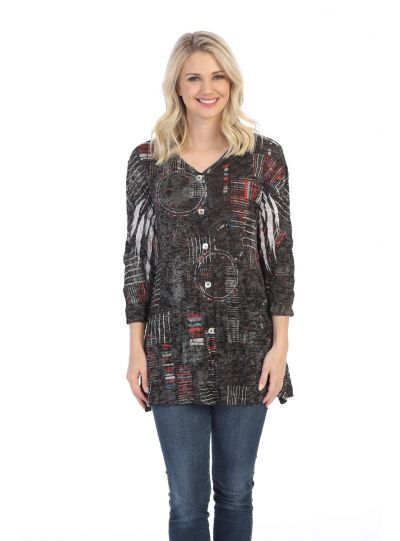 Jess & Jane Plus Size Sonorous Crinkle Tunic SB9-1472X