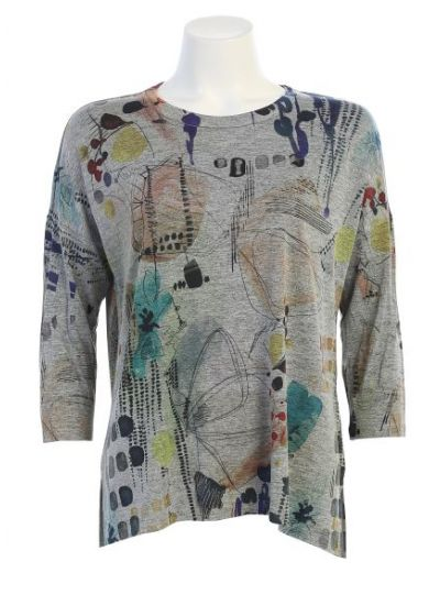 Jess & Jane Plus Size Heather Mariposa Slinky Tunic SK1-1477X