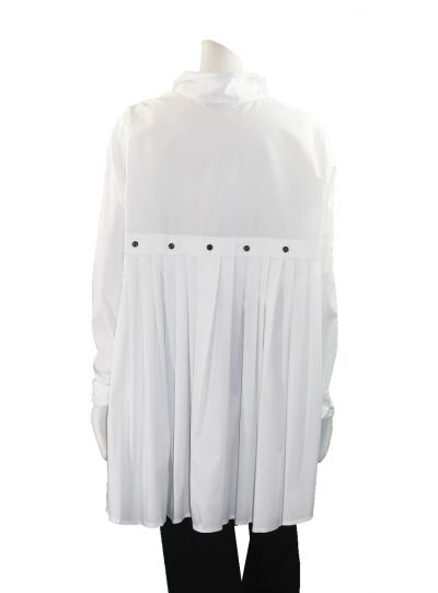 Comfy Plus Size White Carrie Blouse SN533