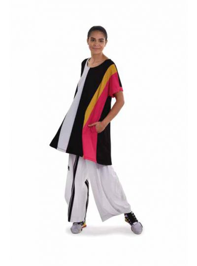 Tekbika Multi Color Black Tunic TT109M