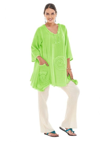 Oh My Gauze Pear Circle Pullover Tunic