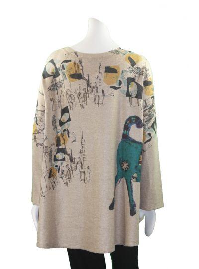 Inoah Tan Fleece Pullover Dog Top T515BM