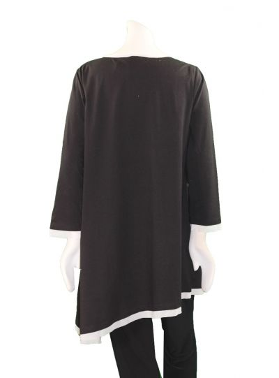 Redwood Court Plus Size Black/White Circle Tunic T674C