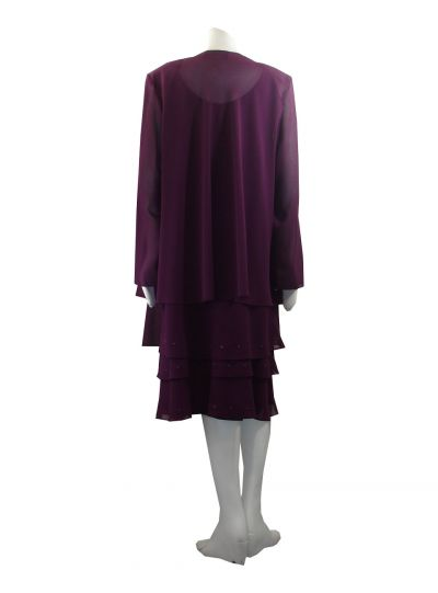 Ursula Plus Size Raisin 2Pc. Dress Set 43593