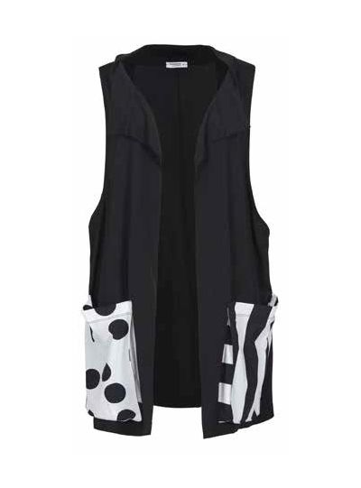 Alembika Black Sleeveless Vest TJ612B