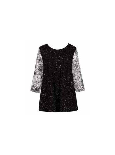 Alembika Black Sprinkle Pullover Top ST148S