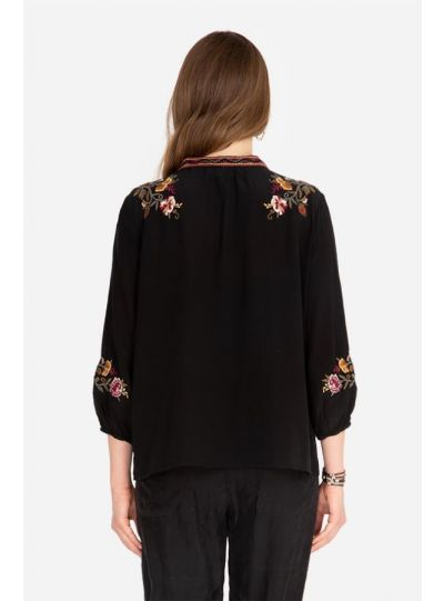 Johnny Was/3J Black Nepal Swing Blouse W11319-9
