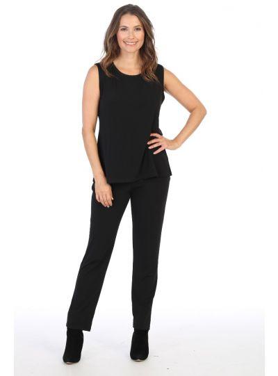 Jess & Jane Plus Size Black Basic Pant Y2