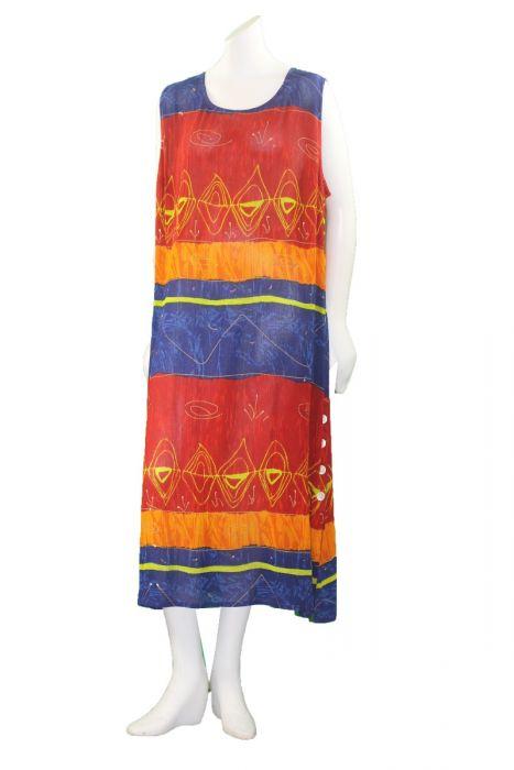 La Cera Plus Size Multi Color Printed Sleeveless Dress 2728xl