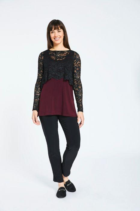 8aec100e1ed Sympli Black Lace Shorty Top 3220