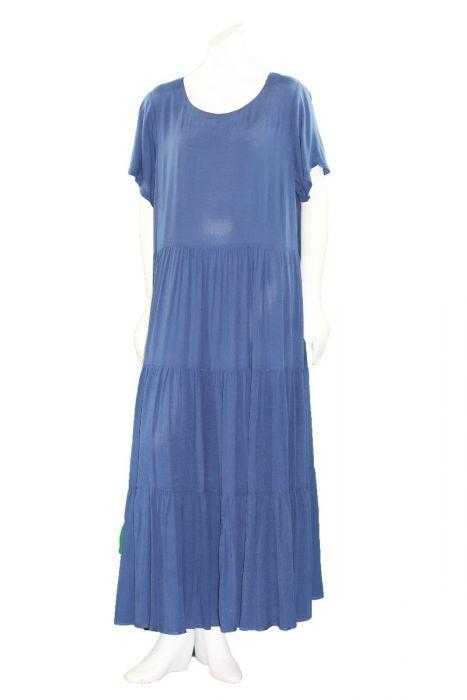 Mat Fashion Plus Size Blue Maxi Dress 711.7053