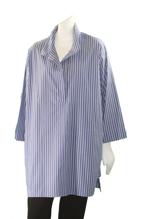 Comfy Plus Size Linda Stripe Catherine High Low Shirt Sn524